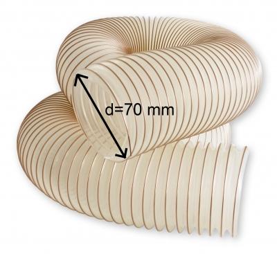 Odsávací polyuretanová antistatická hadice TPU-Z d=70 mm